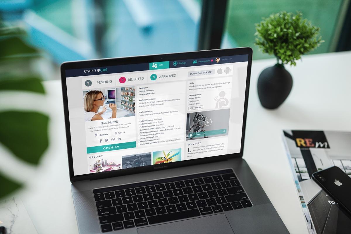 Redizajn koncept - Startup CVs